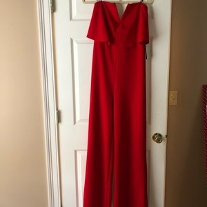 BNWT red strapless jumpsuit